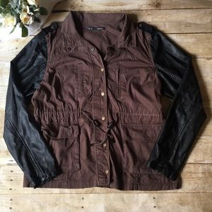Maurice's Brown & Black Utility Jacket Size XL